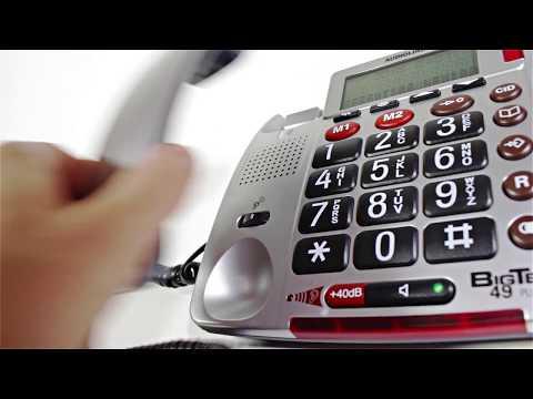 Großtasten-Telefon Audioline BIGTEL 49 plus