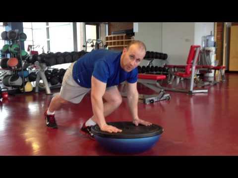 BOSU Medicine Ball Push Up Knee Tuck