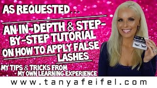 How To Apply False Lashes!!