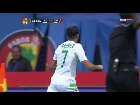 Le but de Mahrez contre le Zimbabwe