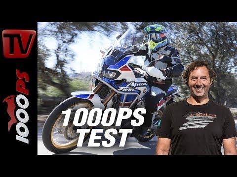 1000PS Test - 500km Reichweite! - Honda CRF1000L Africa Twin 2018 Adventure Sports