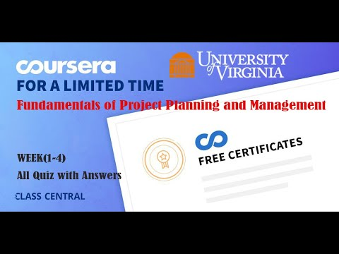 Fundamentals of Project Planning and Management, week (1-4) All ...