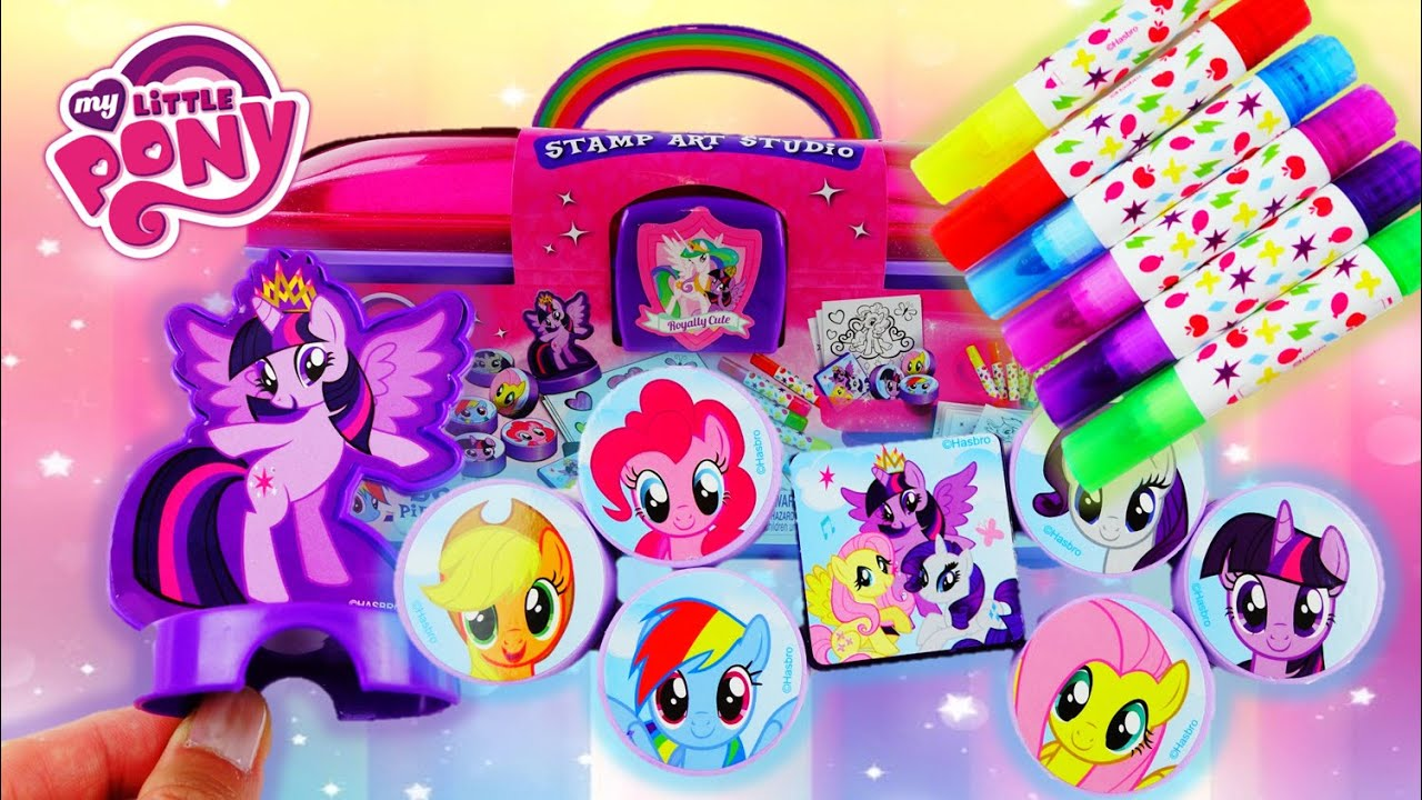 My Little Pony Stamp Art Studio Caboodle with Markers and Activity Sheets