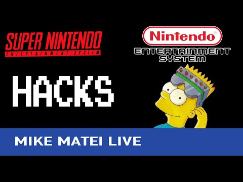 Trying SNES and NES hacks - Mike Matei Live