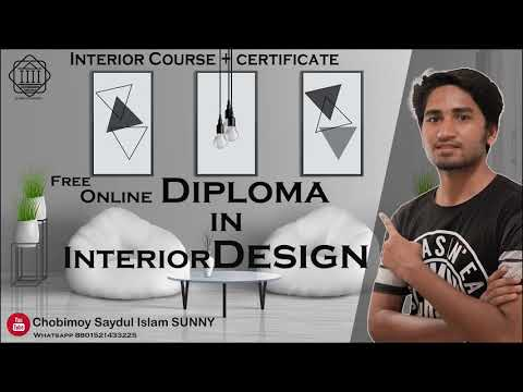 Free online diploma in interior Design course & Certificate easily. Chobimoy Interior,Alison