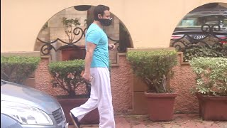 Saif Ali Khan Spotted At Bandra Outside His House