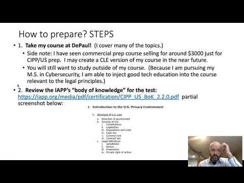 Preparing for CIPP US - YouTube