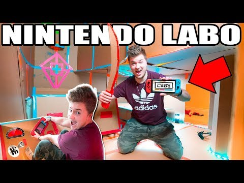 NINTENDO LABO BOX FORT!! 📦👾 Mario Kart, Table Tennis, Swords & More!