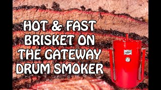Hot and Fast Texas Style Brisket on the Gateway Drum Smoker | Step by Step Instructions | 4K