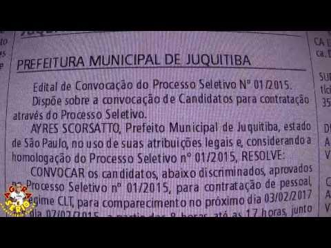 Prefeitura de Juquitiba Diário Oficial - Convocação processo seletivo