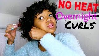 Overnight Heatless Curls On Short Hair