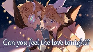 Nightcore   Can You Feel The Love Tonight (Switching Vocals)   (Lyrics)