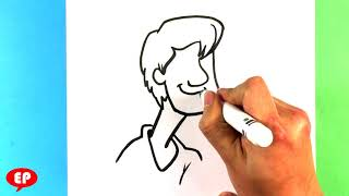 How to Draw Shaggy from Scooby Doo - Meme - Drawing for Beginners and kids - Easy Pictures to draw