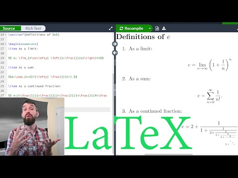 Intro to LaTeX : Learn to write beautiful math equations