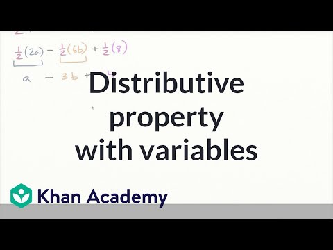 Distributive property with variables (video) | Khan Academy