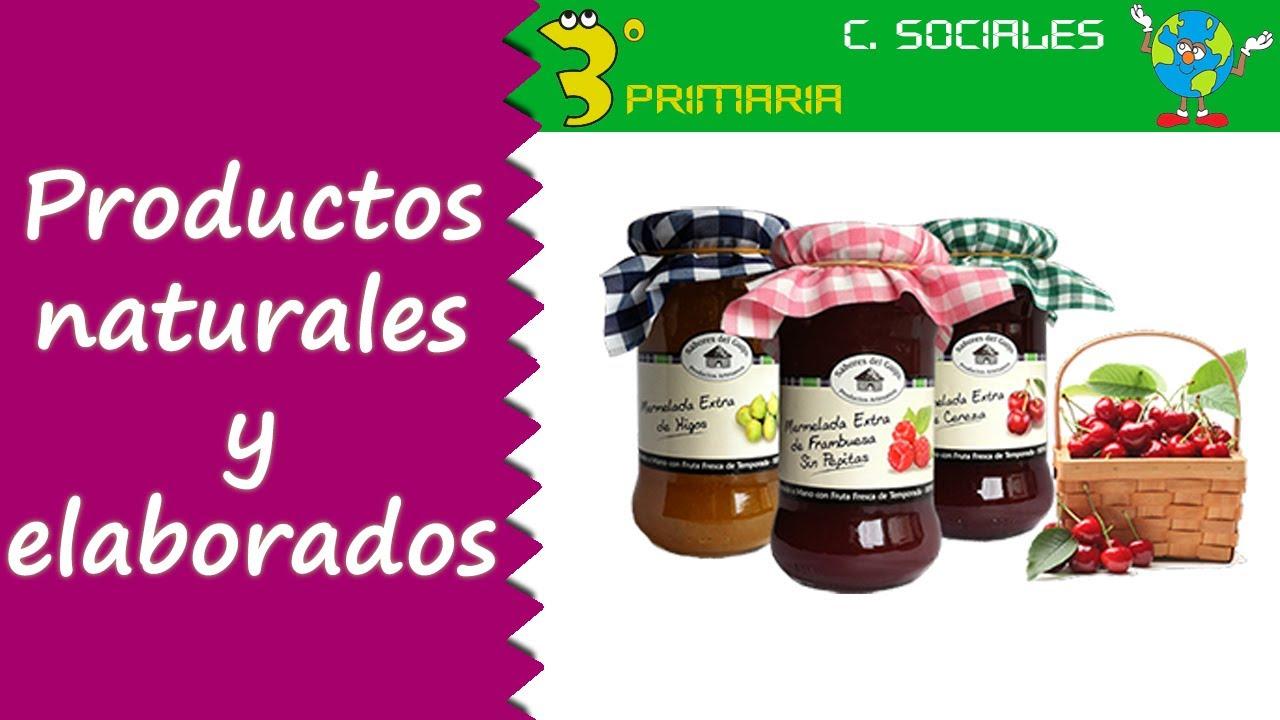 Ciencias Sociales. 3º Primaria. Tema 4. Productos naturales y productos elaborados