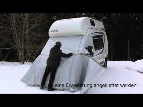 Unbekannt Hindermann Reisemobil Bugschutzplane Abdeckplane Reisemobil Schutzplane Schutzh/ülle Sichtschutz grau
