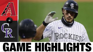 Rockies hold on in 8-7 win vs. D-Backs | Rockies-D-backs Game Highlights 8/11/2020