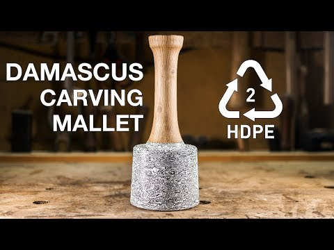 Damascus Mallet from plastic bottles [12:11]