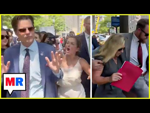 Protesters Force Gaetz And Greene To Abandon Press Conference