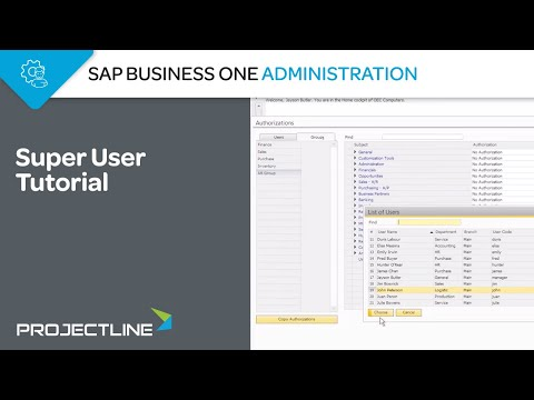 SAP Business One Super User Tutorial - YouTube