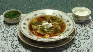 Смотреть онлайн Рецепт вкусного супа из сушеных белых грибов
