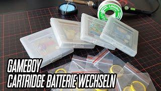 Anleitung zum wechseln einer Batterie - Nintendo Gameboy Spiel Modul Cartridge -