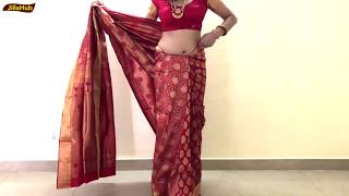 How To Wear Perfect Saree | कैसे पहने South Indian दुल्हन साड़ी | Drape Sari To Look Slim & Tall