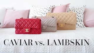 CHANEL LAMBSKIN vs CAVIAR LEATHER | BAG FAQS