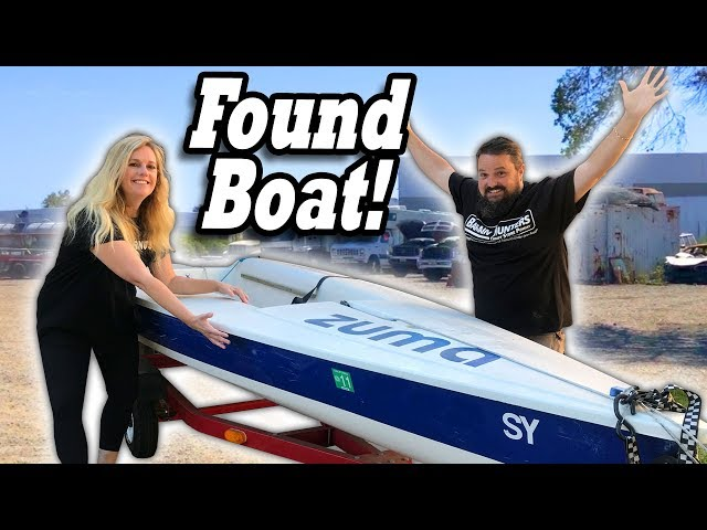 FOUND ABANDONED BOAT in tow yard. Same sailboat from the storage locker we bought at auction!