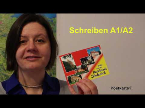 Die Postkarte - das informelle Schreiben auf Niveaustufe A1/A2