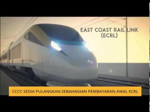 CCCC sedia pulangkan sebahagian pembayaran awal ECRL