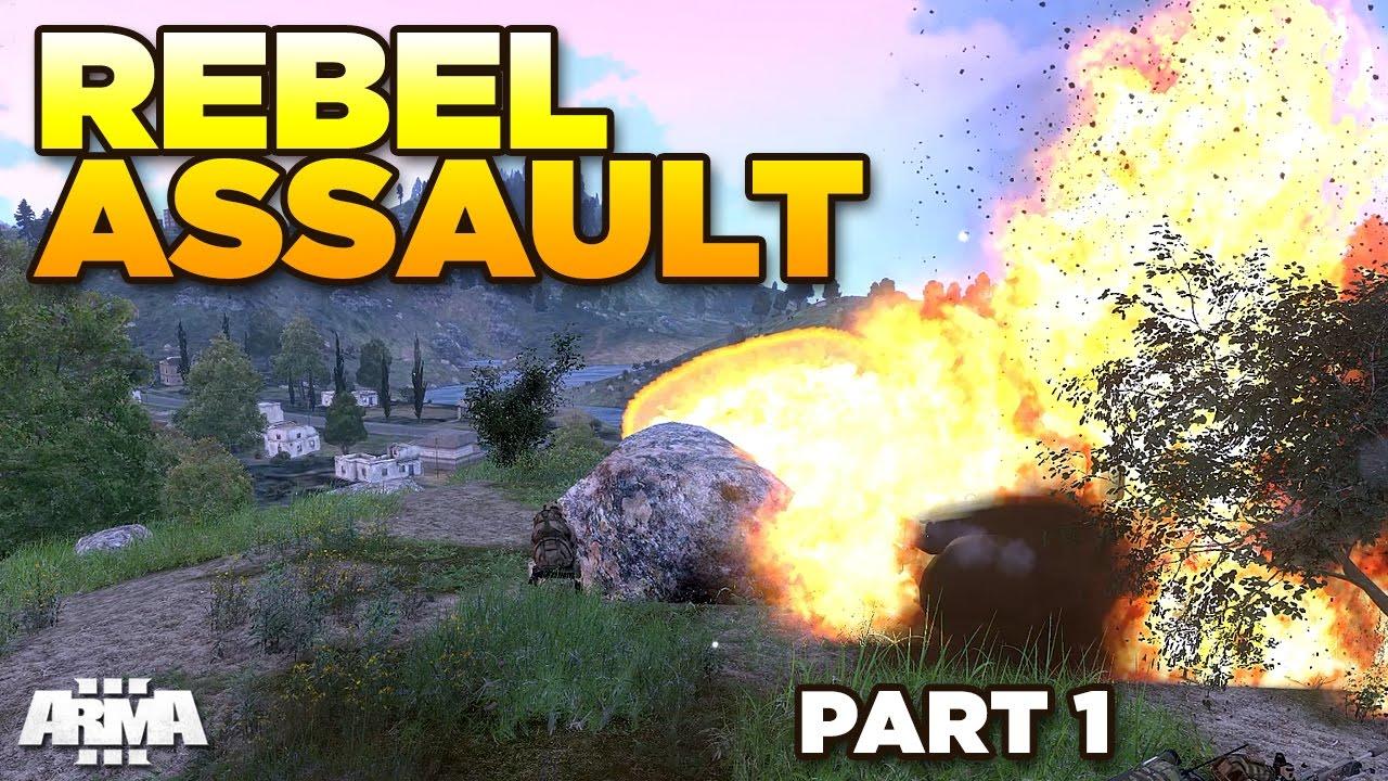 REBEL ASSAULT [Part 1] Repel the attackers - ARMA 3 Zeus