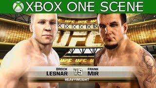 Brock Lesnar vs Frank Mir – EA Sports UFC 2014 gameplay – Full Fight – XBOX ONE