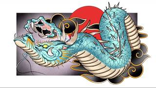 DRAGON DRAWING Easy Way To Do It! | Japanese Dragon Tutorial | How To Draw A Dragon