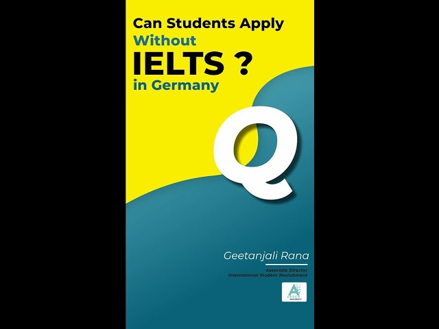 Can you study at Arden university without IELTS? listen to find out!