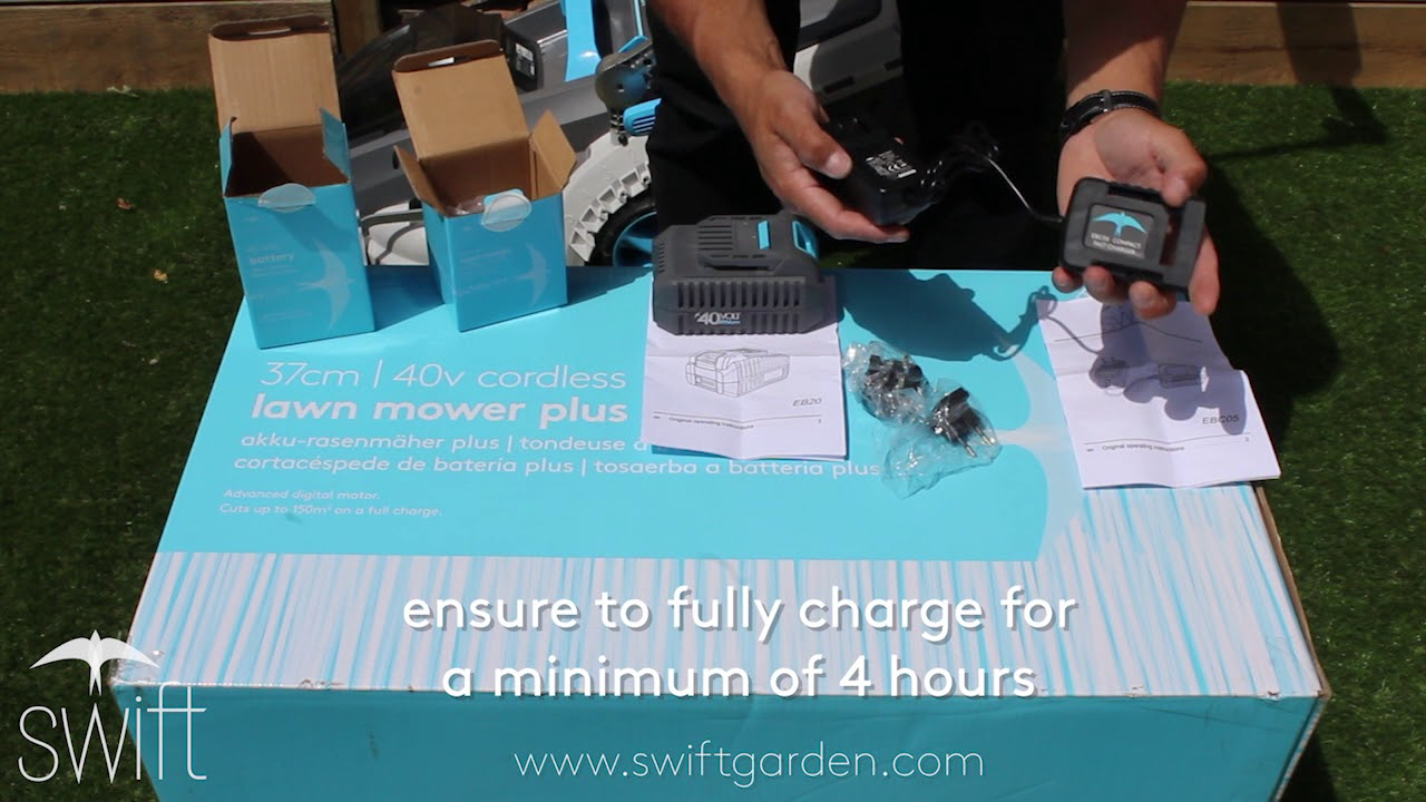 Swift EB20 battery & EBC05 charger unboxing and assembly standard kit equipment