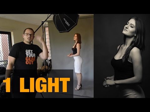 LIVE Photoshoot - Single light portraiture