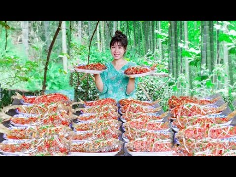 #大胃王#美食 全村第一吃貨消滅媽媽秘製香辣魚
