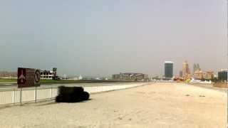 Dubai Sky Diving Plane And A Sky Diver Land Almost The Same Time In May 2012