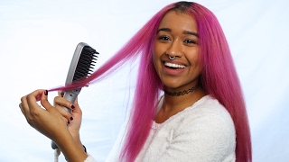 Straightening Curly Hair with a Brush | How to Straighten Hair with a Brush  Tutorial