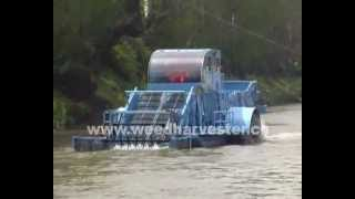 preview picture of video 'River trash collection boat'