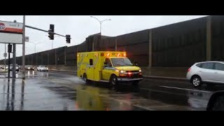 preview picture of video 'Urgences-Santé Ambulance 120 et 212 responding'