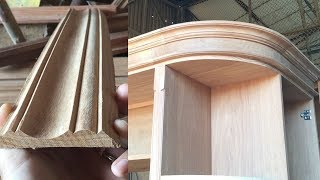 Make Timber Mouldings With A Router// Woodworking Making Wood Curved Crown Molding For Cabinets