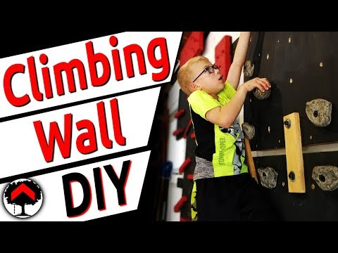 How to simply build a home climbing wall that is fully adjustable. Garage home Ninja Gym setup!