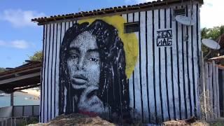 Izolag Graffiti - Beira de rio, frente pro mar.