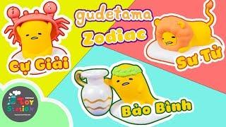 12 Cung Hoàng Đạo phiên bản Trứng Lười Gudetama Zodiac ToyStation 325