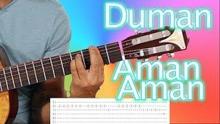 Duman Aman Aman Nasıl Çalınır? Orjinal Akor + Solo Gitar Dersleri // Akustik Cover