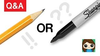 Artist Q  A: Why Do You Use a Sharpie to Draw? Pencil or Sharpie?