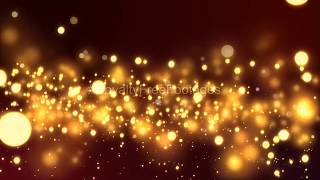 Merry Christmas golden particles background loops | wedding title background | Bokeh overlay video
